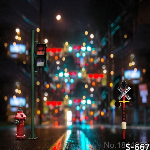 3x5FT Lampu Lalu Lintas Tanda Tanda Jalan Neon Lampu