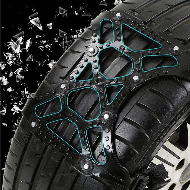 Car Truck Off-Road SUV Safe Snow Tire Wheel Chain Anti-skid Belt Universal Black