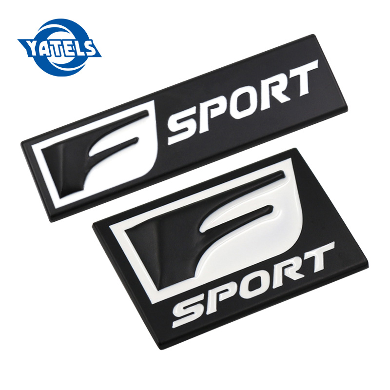 New F Sport 3D Metal Badge Decal Rear Trunk Emblem Sticker for Lexus IS ISF GS RX RX350 ES IS250 ES350 LX570 CT200 Car Stickers