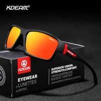 Rechteck Form Kdeam Licht Sonnenbrille Männer Polarisierte Branded Logo Sonnenbrille occhiali da sole uomo polarizado Mit Box