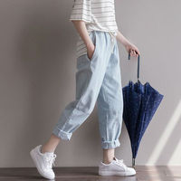 Rihschpiece 2016 Loose Harem Pants Women Plus Size Trousers Sweatpants Jogger Baggy Pant RZF554