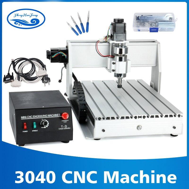 800 w/1.5kw 3-axis/4-axis 3040 enrutador CNC grabador de husillo en T máquina de fresado máquina de grabado CNC 3040 fabricante