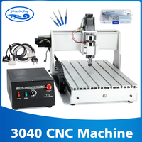 800w/1.5kw 3 axis/4 axis 3040 CNC Router Engraver T Screw Cutting Milling Drilling Engraving Machine CNC 3040 Manufacturer