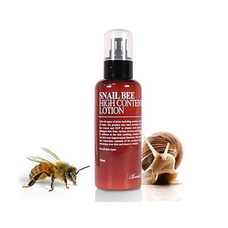 BENTON Snail Bee High Content Lotion 120ml / Skin Care Face Cream Face Lotion MoisturzingTreatment Anti Winkles Korean Cosmetics premium hydra b5 toner 120ml lotion 120ml set