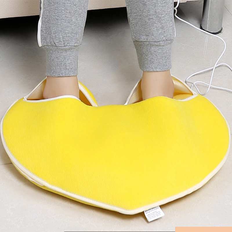 plush usb foot warmer shoes soft electric heating slipper to