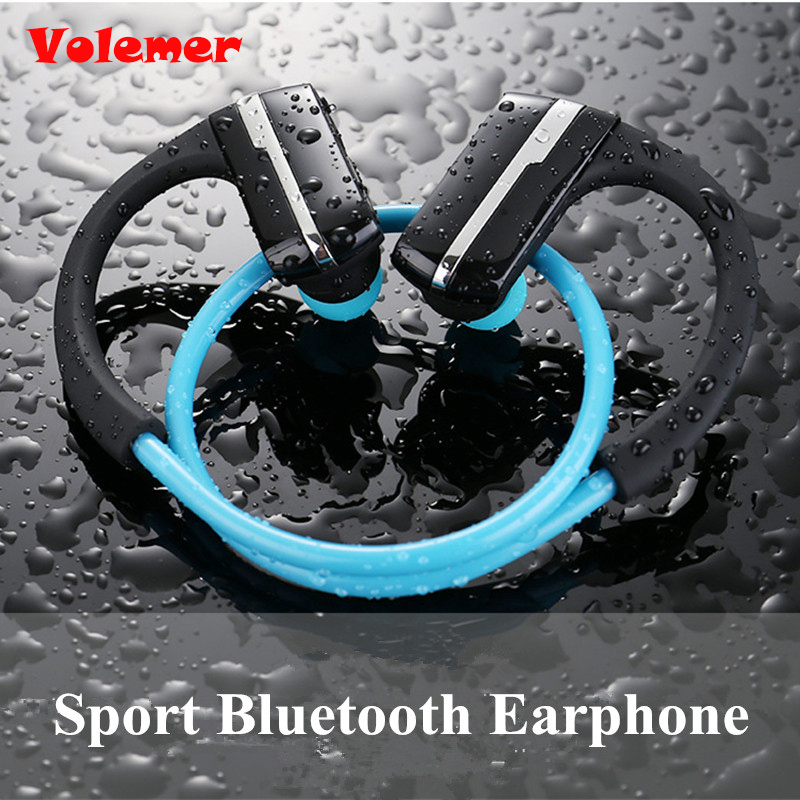 Volemer P9 IPX4 Bluetooth Earphone Bluetooth 4.1 Headset Wireless Sports Headphone Stereo Auriculares Earhook for iPhone/Xiaomi