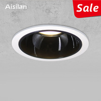 Aisilan Round Recessed LED Nordic Downlight Angle Built in LED lamp Spot light AC90 260V 7W for Indoor Lighting