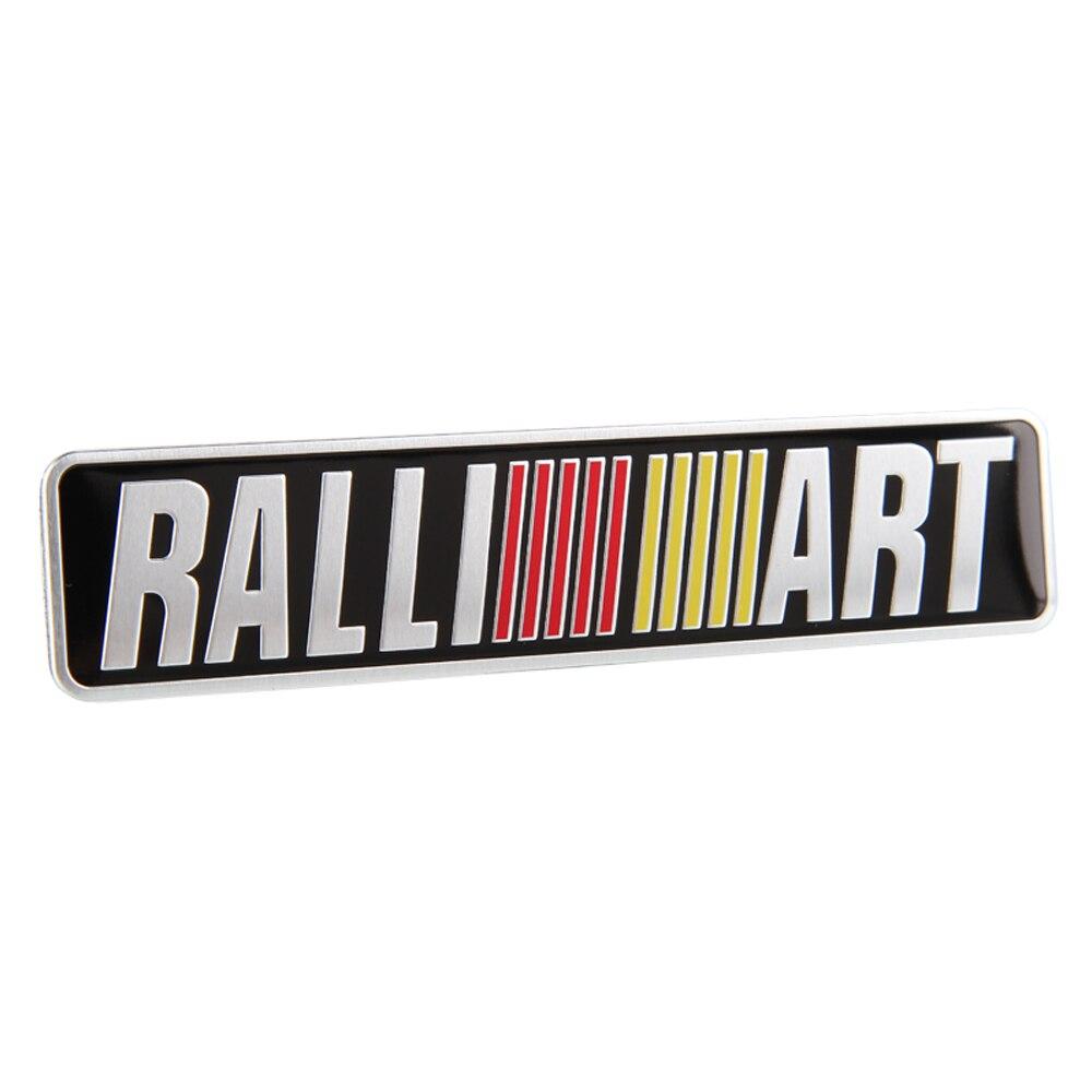 Pour Ralliart Logo Autocollant De Voiture Decal Plaque Signalétique pour Mitsubishi Outlander ASX Lancer Pajero Delica Grandis Voiture Décoration