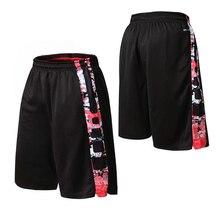 Новые мужские баскетбольные тренировочные шорты для соревнований, спортивные свободные Мужские дышащие шорты больших размеров