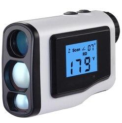 Telémetro de Golf 600m de mano pantalla LCD alcance caza telémetro láser rango de medición monocular impermeable 3 colores 005