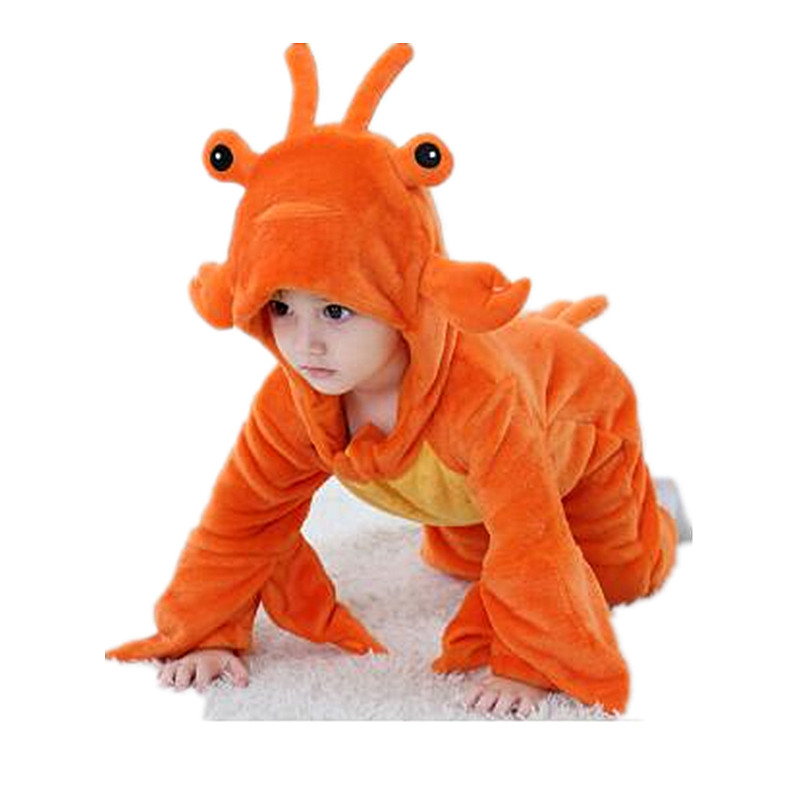 New Baby Lobster Flannel Single Layer Styling Conjoined Children's Cosplay Party Costume Men and Women Animal Burlesque Onesies