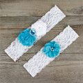1Pair Bride Garter With Lace Flower Decoration Fashion Sexy Dress Wedding Garters Bridal Women's Fashion Gift 6 Colors DD4
