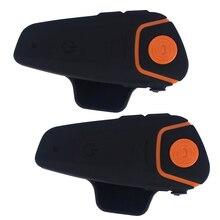 2 unids impermeable 100% motocicleta moto inalámbrica bluetooth intercomunicador del casco de auriculares interphone con fm función bt-s2