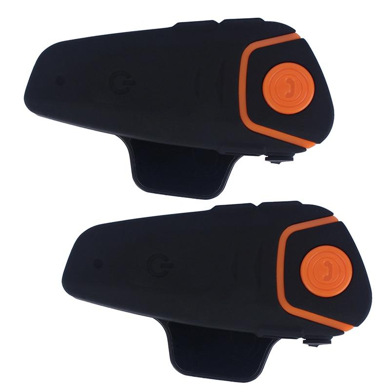 2 pcs Waterproof 100 Motorcycle Moto Wireless Bluetooth font b Helmet b font Intercom Interphone Headset