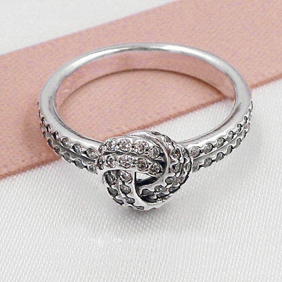 925 Silver Ring for Women Timeless Elegance Sparkling Love Knot ...