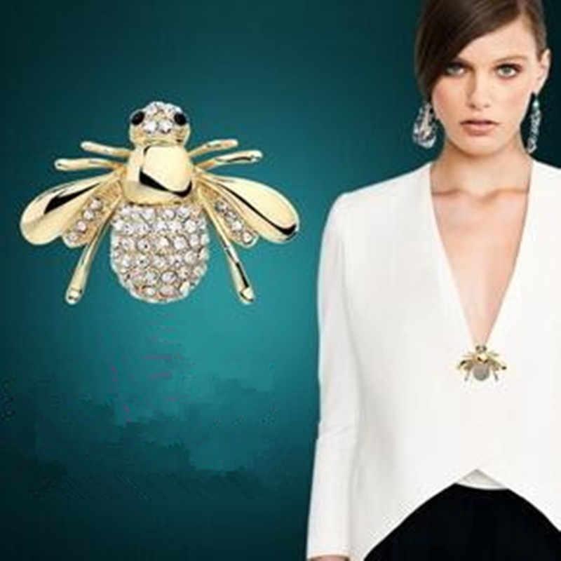 韓国のファッションジュエリーかわいい蜂ブローチfangzuanスーツ襟カーディガンドレスブローチピンヘッドアーティファクト販売孟