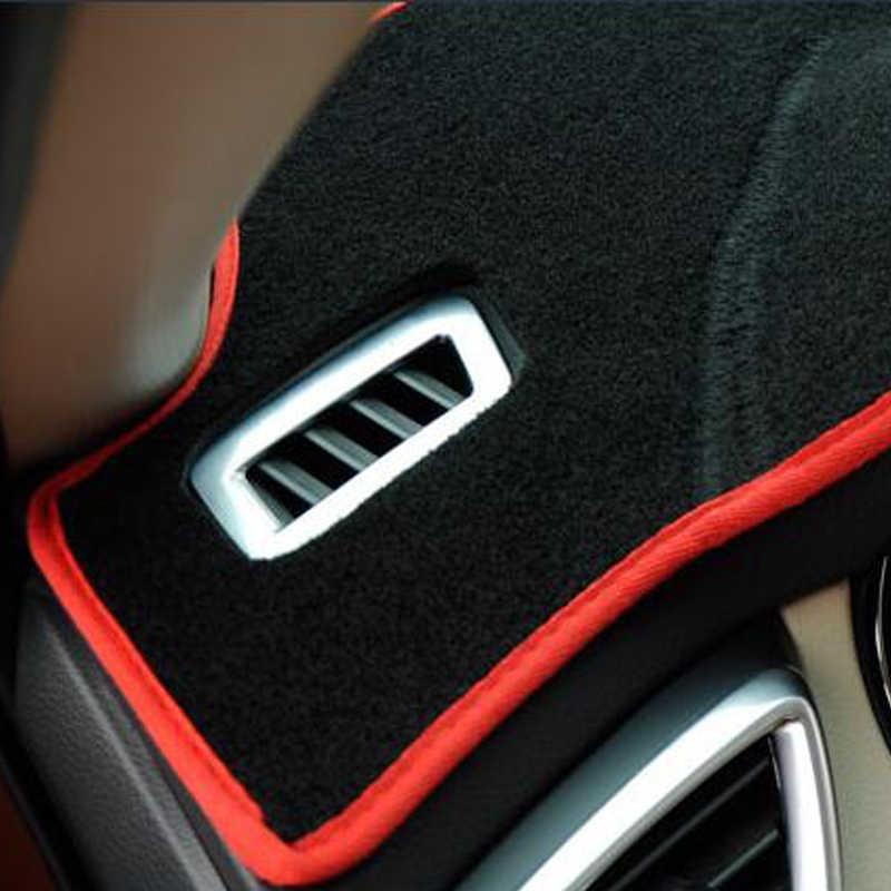 Taijs車のダッシュボードプジョー 5008/4008 2017 2018 カーペットdashmat抗uvダッシュボードカバーパッド自動サンシェードカーペット