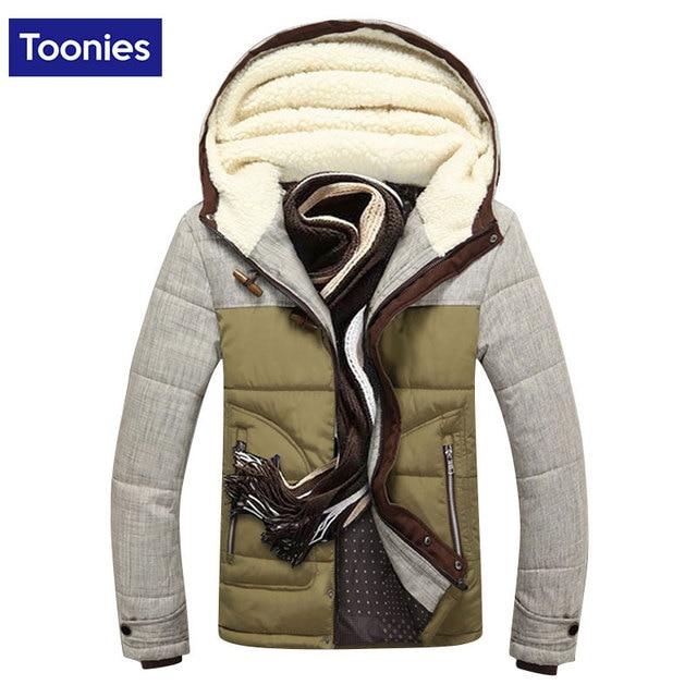 Brand Clothing Winter Jacket Men Thicken Patchwork Down Coat Cotton Liner Jacket Man Outwear Park Men Hooded Warm Coats Oversize
