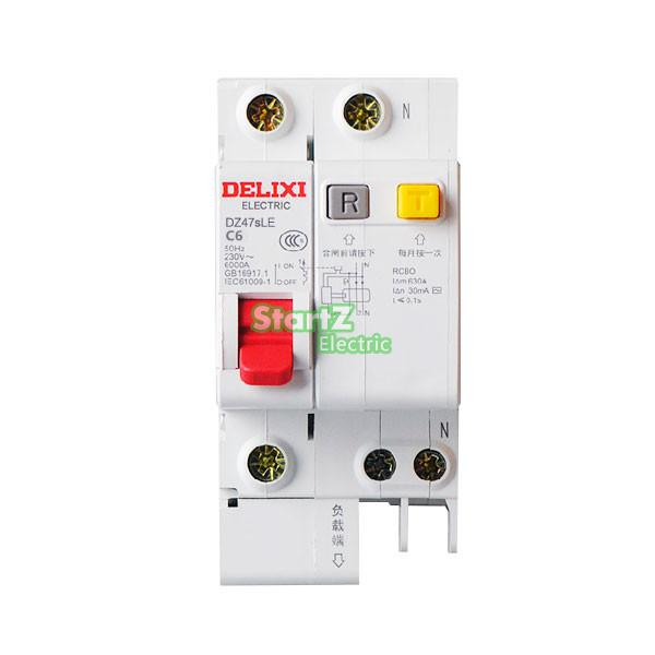 63A 1P+N RCBO RCD Circuit Breaker DE47LE DELIXI 50a 3p n rcbo rcd circuit breaker de47le delixi