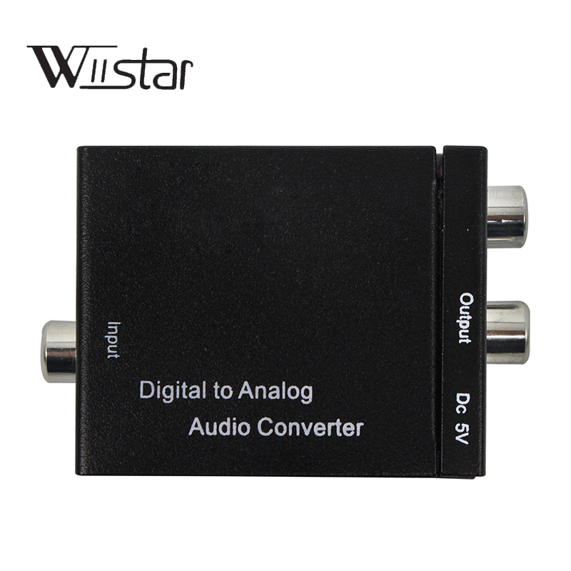 Digital Optical Coaxial Toslink Signal to Analog Audio Converter Adapter RCA Digital To Analog Audio Converter Cable Black smal a6 hifi digital amplifier 50wx2 dac digital 110v 220v native dsd512 usb optical coaxial lp player cd analog input