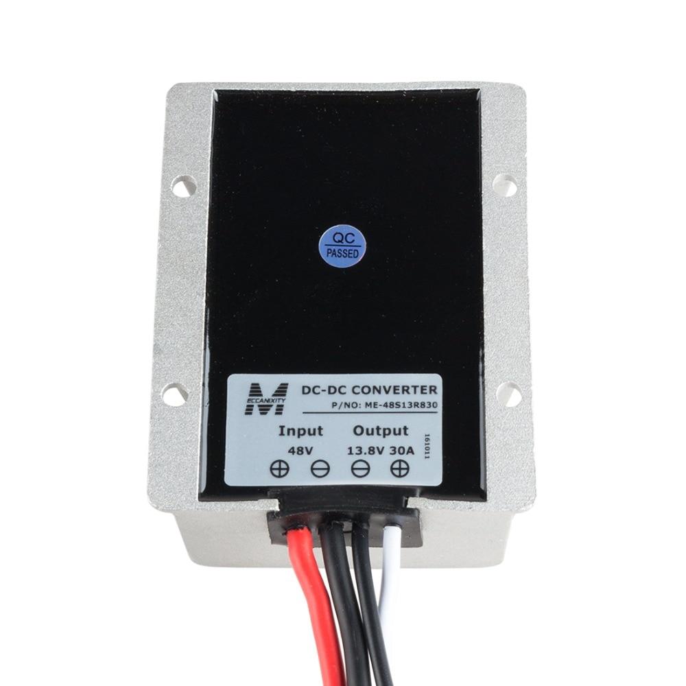 Waterproof Regulator Module Step Down DC 48V to DC 13.8V 30A 414W for Motor Voltage Converter Transformer micro dc voltage step down transformer module blue
