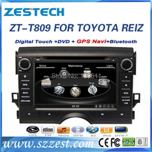 ZESTECH High performance dual-core HD digital touch screen car dvd for Toyota REIZ car dvd with radio/RDS/3G+factory