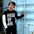 Campana Por Aire HBA de Manga Larga camiseta de Los Hombres de Calidad Superior del Algodón de La Cadera Hop Camiseta Hombres de Marca camiseta Camisa Homme Diseñador camisetas Swag