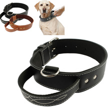 Large Sports Running Walking Training Padded Quick Collar Control Leather M/L/XL Leash With Handle Boxer Bulldog pet supply