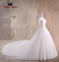 Tamanho personalizado vestido de Baile de Tule Rendas Beading Elegante Puffy Nupcial Do Vestido de Casamento Novo 2017 Vestidos de Casamento vestidos de noiva LE25