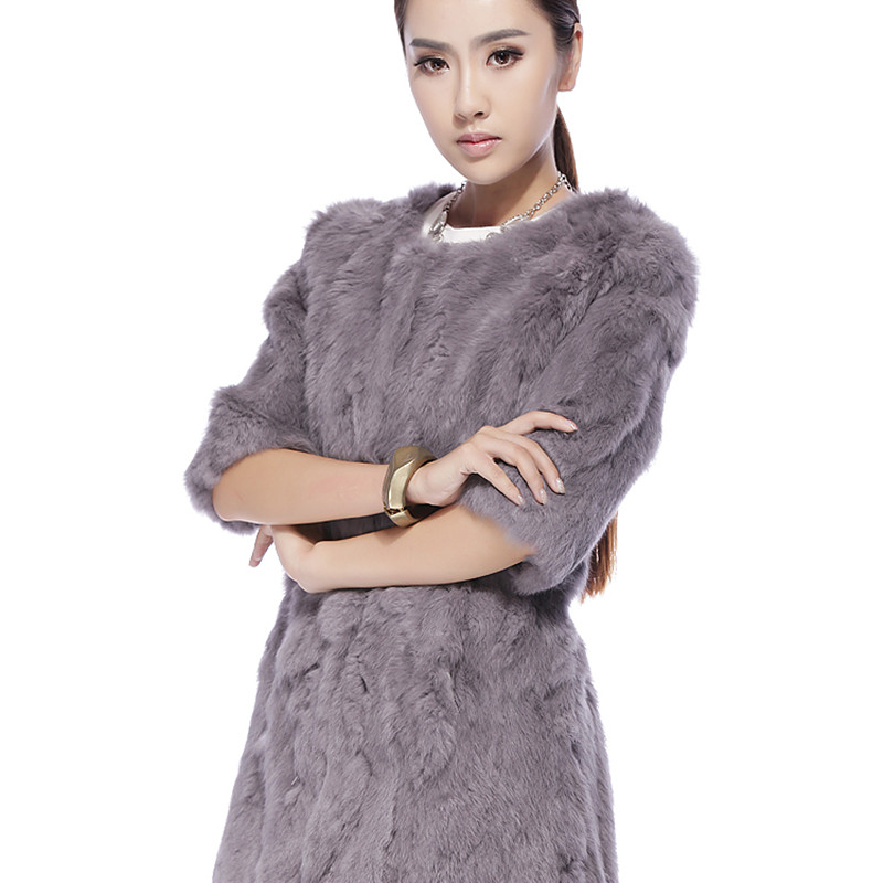 Rabbit Rabbit Fur Clothes Long Coat T shirt 2016 New ...
