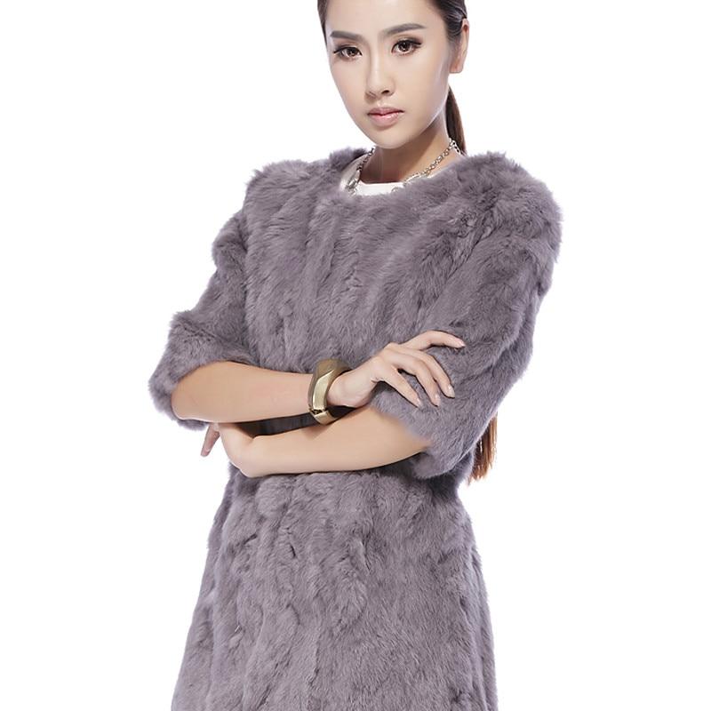 Rabbit Rabbit Fur Clothes Long Coat T Shirt 2016 New