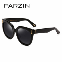 PARZIN Brand Polarized Sunglasses Men & Women  Lovers 2017 New Retro Big Round Frame Shield Anti UV400 Driving Glasses 9667