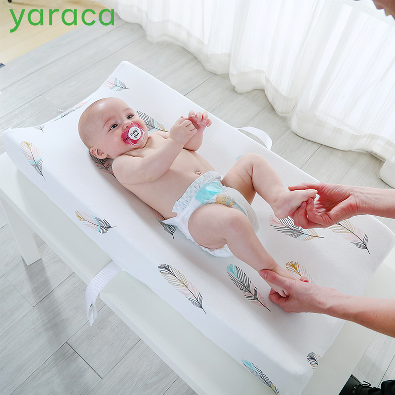 yaraca Diaper Changing Pad Cover Newborns Soft Breathable Cotton Fitted Sheet for Standard Changing Table Pads Bassinet Sheet Полка