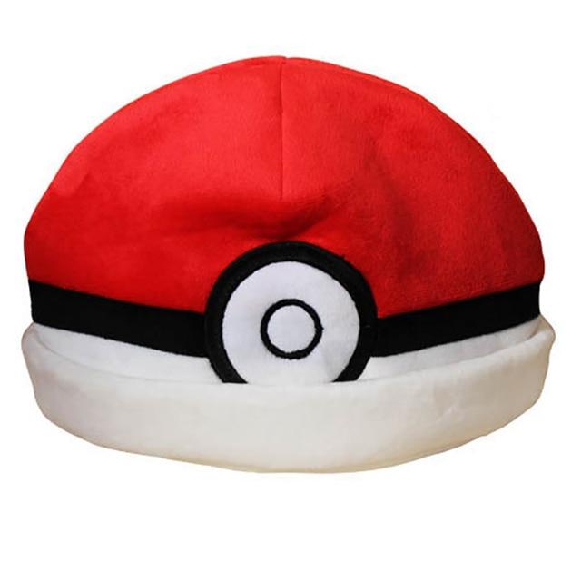 Anime Pokemon Red Elves Ball Plush Hat Women Men's Costume cosplay Winter Warm Beanie new fashion 2016