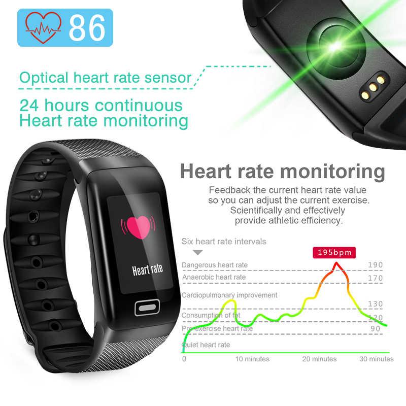 BANGWEI 2019 スポーツスマート腕時計男性フィットネストラッカー心拍数血圧酸素モニター IP68 防水女性のスマートウォッチ