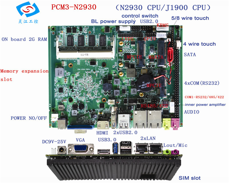 Original Motherboard for industrial pc panel pc  mini-itx motherboard for 4 lan m945m2 945gm 479 motherboard 4com serial board cm1 2 g mini itx industrial motherboard 100