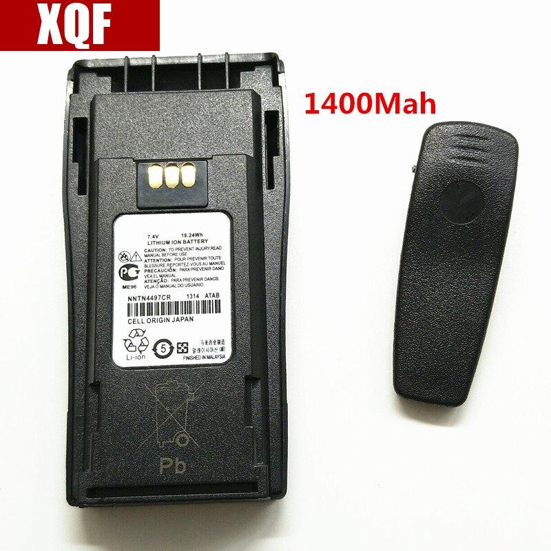 XQF 7,4 V 1400 mAh Li-Ion Akku für Motorola GP3688 GP3188 EP450 PR400 CP140 CP150 CP160 CP180 CP200 CP250 Walkie Talkie