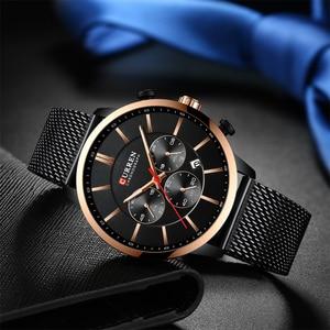 Image 3 - CURREN Luxury Brand Fashion Quartz Clock Mens Watch Causal Sport Watches Men Chronograph and Date Wristwatch with Steel Mesh