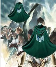 купить Anime Attack on Titan Cosplay Cloak Shingeki no Kyojin The Scouting Legion Eren Jaeger Dust Coat Cape Costumes дешево