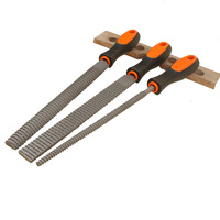 3PCS 8 Wood Rasp Files Set Includes Round File Semi Round File And Flat File Cabinet