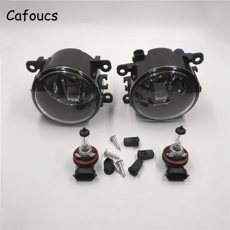 Cafoucs For Ford Focus Car Front Bumper Fog Lamp Light With Bulb 2008-2014 Accessories for lifan 620 front fog lamp bumper light front bumper lamp with light bulb