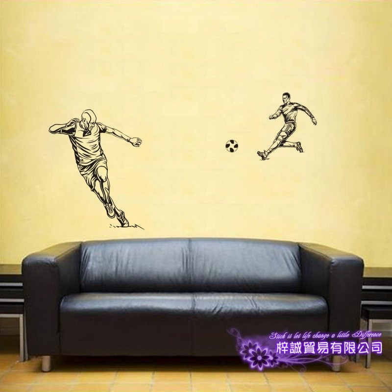 DCTAL Football Player Sticker Football Game Soccer Decal Helmets Kids Room Posters Vinyl ...