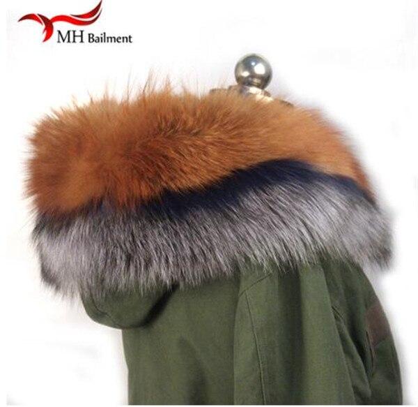 Шарф из натурального меха, пальто с меховым воротником, Женское зимнее пальто, меховые шарфы, роскошный мех енота, настоящий зимний теплый шейный платок - Цвет: D