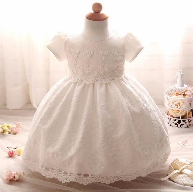 Nicoevaropa Neonato Vestito Infantile vestito del Battesimo Del Bambino  Vestiti Delle Ragazze Bianco Del Merletto Battesimo 052c5d9c067