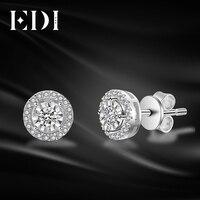 EDI классический 0.28ttw круглой огранки природных алмазов Soild 14 К белого золота свадебные серьги для женщин ювелирные украшения