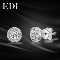 EDI Classic 0.28ttw Round Cut Natural Diamond Soild 14k White Gold Wedding Earrings For Women Fine Jewelry