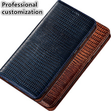 YM11 Lizard Pattern Genuine Leather Phone Case For OnePlus 7 Pro Phone Bag With Card Slot For OnePlus 7 Pro(6.67′) Case