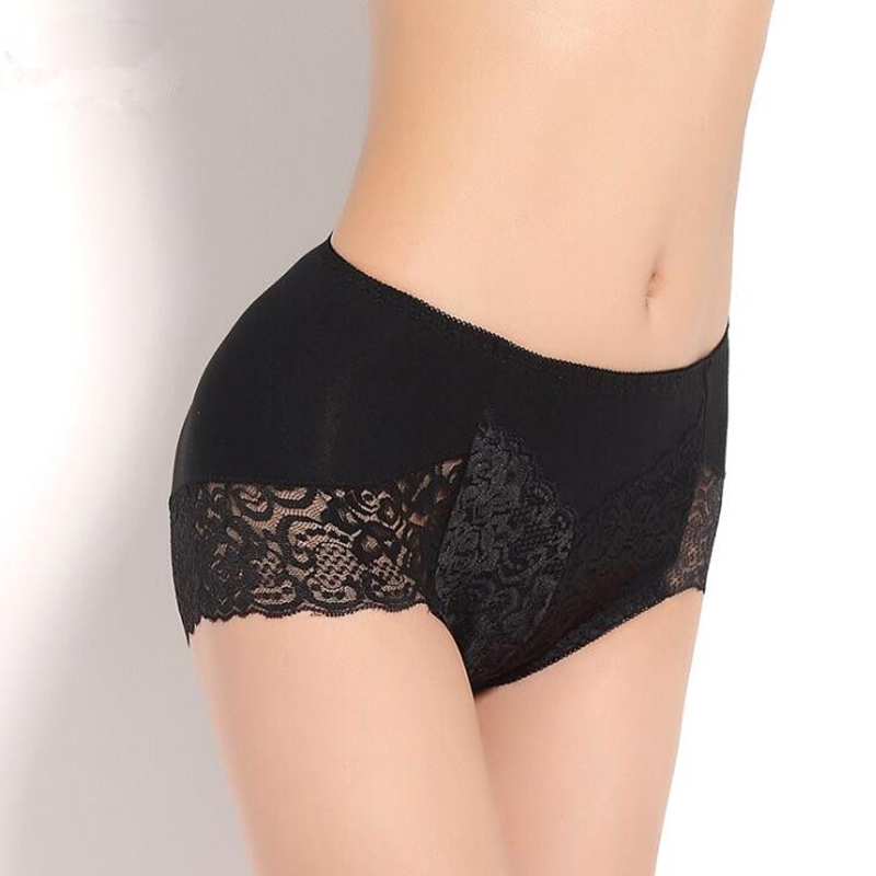 Ladies Seamless Cotton Lace Lingerie   Panties   Briefs Underwear for Women Plus Size Patchwork Bottoms Middle Waist Brief Underpant