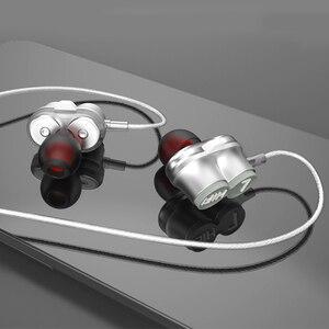 Image 5 - Tebaurry tb6 unidade dupla driver fone de ouvido com fio de alta fidelidade estéreo para o telefone iphone 4 alto falantes super bass fone com microfone