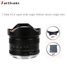 7 rzemieślników 7.5mm f2.8 obiektyw typu rybie oko instrukcja obiektyw stałoogniskowy dla E do montażu na Canon EOS-M do montażu na Fuji FX do montażu na sony a7 a6300 A7S
